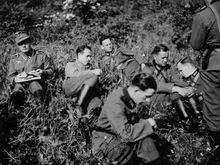Прокладка телефонных  линий связи. 17-я запасная рота (связи) 137-го горнострелкового полка -  район Зальцбурга