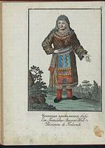 Cheremiss woman, Mari Region, Central Russia in Europe. (1814)