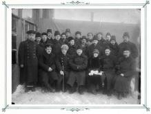 Группа работников завода