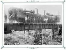 Железнодорожный мост от центра завода на берег. Портрет мастеров