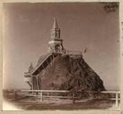 Вершина г. Благодать с часовней и памятником. 1909