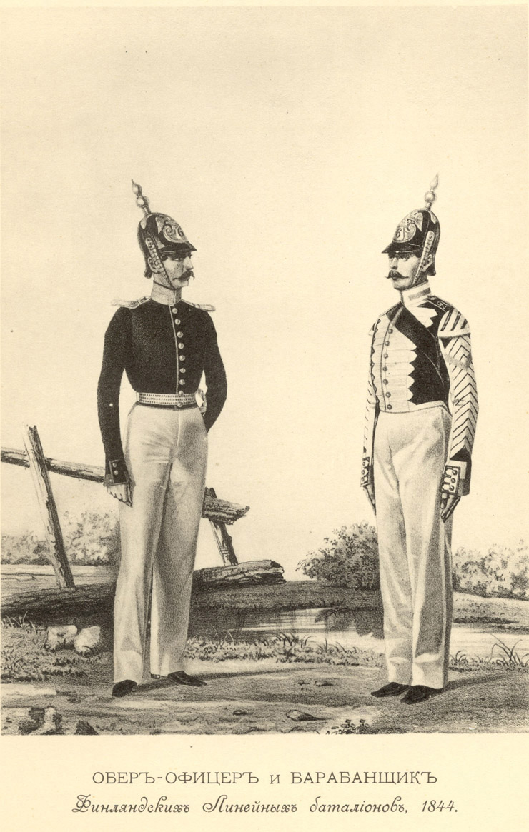 В генеральном штабе, в корпусе топографов, в полках и батальонах - линейных
